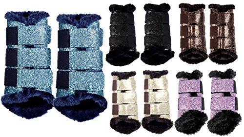 HKM 10032 Gamaschen Comfort Glitter, Pferdegamaschen ,Teddyfutter, S-XL, 1 Paar