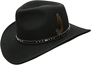 1324f88d9bb6b Amazon.com  Blacks - Cowboy Hats   Hats   Caps  Clothing