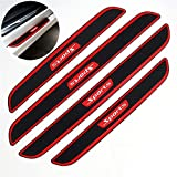 TIDO 4pcs Car Door Sill Scuff Guard, Welcome Pedal Protect, Anti-Kick Scratch for Cars Doors