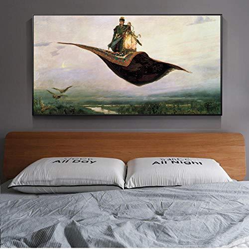 Knncch Prinz Iwan Auf Dem Zauberteppich Wandkunst Leinwand Russische Gemälde Reproduktionen Bilder Bilder Für Wohnzimmer-60X90Cm