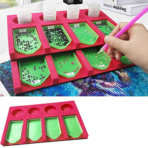 Diamond Painting Accessories Tray Organizer for Adults, Multi-Boat Holder for Storage Boxes Containers, Diamond Painting Tools Kits for Craft Arts.