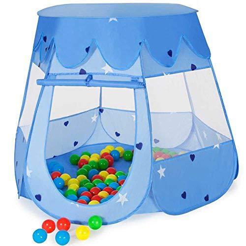 BAKAJI Tenda per Bambini Bambine Principi Principesse Pop Up Richiudibili Igloo Tunnel Casetta con Palline Colorate (Tenda Principe)