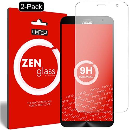 ZenGlass [2 Stück Flexible Glas-Folie kompatibel mit ASUS ZenFone 2, 2 Deluxe Panzerfolie I Bildschirm-Schutzfolie 9H