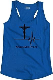 Jesus Saved My Life God Christian Sacrifice Racerback Tank Top