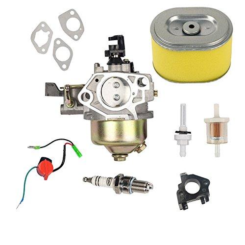 OxoxO Vergaser-Luftfilter Kraftstofffilter Schalter für Rasenmäher Honda GX340und GX390Motor 11HP 13HP