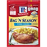 McCormick Bag 'N Season Pork Chops Cooking Bag & Seasoning Mix 1.06 oz (Pack of 6) by McCormick
