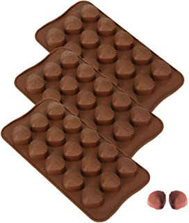 MOMOONNON 3pcs Seashell Mold Chocolate Making Baking Candy Shell Shaped Silicone Tray Molds for Christmas Party Anniversary Wedding
