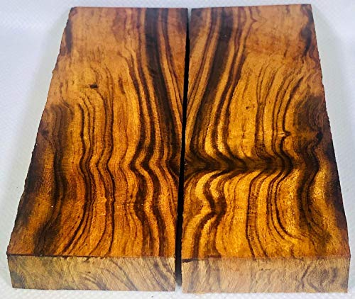 Bookmatched Ironwood Knife Scales – Knife Makers Material – Size 5 1/8 x 1 3/4 x 1/2 Inches - 2 Pack