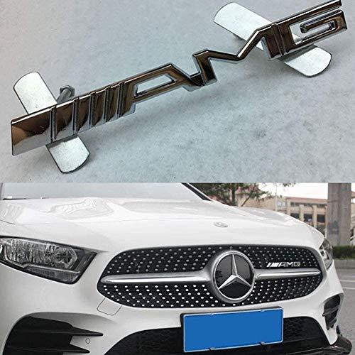 HSTD 1 Stück Auto Emblem Frontgrill Abzeichen Grill Aufkleber Beschriftung für Mercedes Benz AMG W204 W203 W212 W211 W124 W210 CLG Car Styling