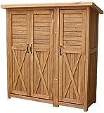 物置 倉庫 収納庫 屋外 天然木 木製 庭 物入れ おしゃれ 大型 北欧 /(ライトブラウン)