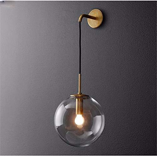 Nordic Moderno Lámpara pared LED Bola cristal Espejo