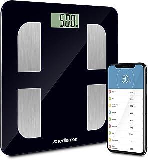 Redlemon Báscula Digital Bluetooth con Medición de Grasa Corporal, Índice de Masa Corporal, Demanda de Calorías, Báscula I...