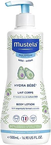 Mustela Hydra Bébé Lait pour Corps Flacon Pompe 500 ml