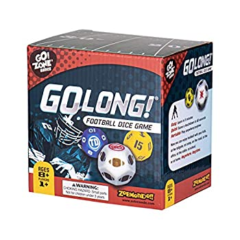 Zobmondo!! Go Long! Football Dice Game Fun Math Dice Game for Adults and Kids Ages 6 and Up