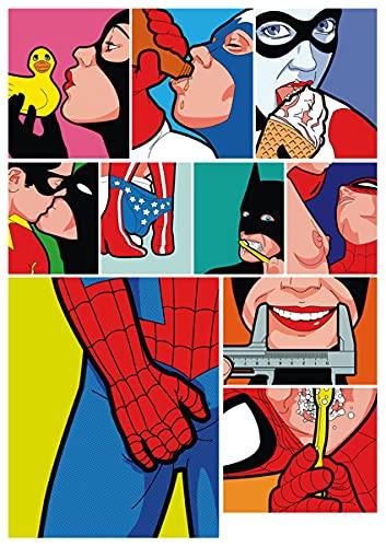XIAMU A4 Pieza Entera de Papel Broma DC Marvel superhéroe Cuaderno Bar Maleta Casco Pegatinas Decorativas 1 Hoja