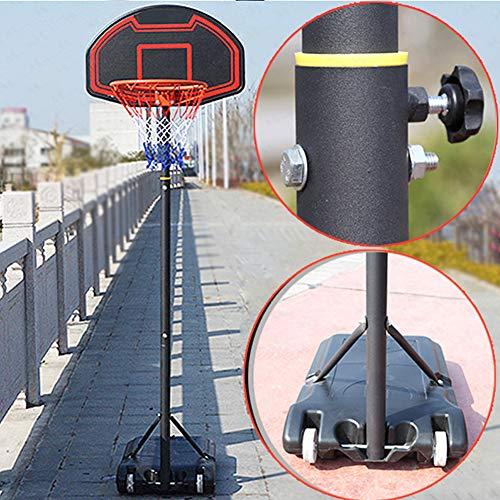 YXYBABA - Mini balón de baloncesto portátil para niños, 71 x 45 cm, tablero de 38 cm, aro de 38 cm, para interior y exterior, movimiento de gimnasio, casa, fitness, juego de baloncesto, altura ajustable
