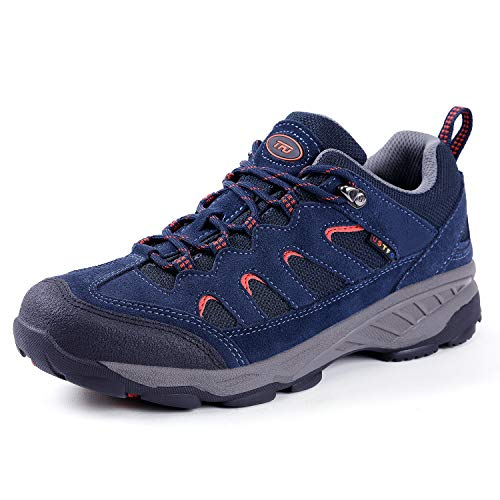 TFO Men's Outdoor Hiking Shoe Non-Slip Breathable Backpacking Camping Running Athletic Trekking Shoe Dark Blue