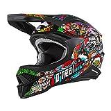 O'NEAL | Casco de Motocross | MX Enduro | Shell ABS, Estándar de Seguridad ECE 22.05, Ventilación para una óptima ventilación y refrigeración | 3SRS Helmet Crank 2.0 | Adultos | Multi | Talla L