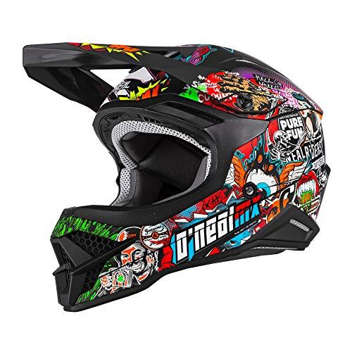 O\'NEAL | Motocross-Helm | MX Enduro Motorrad | ABS-Schale, Sicherheitsnorm ECE 22.05, Lüftungsöffnungen für optimale Belüftung & Kühlung | 3SRS Helmet Crank 2.0 | Erwachsene | Multi | Größe L