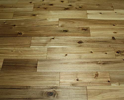 Elk Mountain Acacia Asian Walnut Natural 3/4 x 5' Distressed Solid Hardwood Flooring AF152 Sample