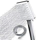 Newentor Shower Head with Hose, High Pressure Shower Heads with Hose 1.5m, Universal Shower Head and Hose Set with 6 Settings Spray Mode, Chrome