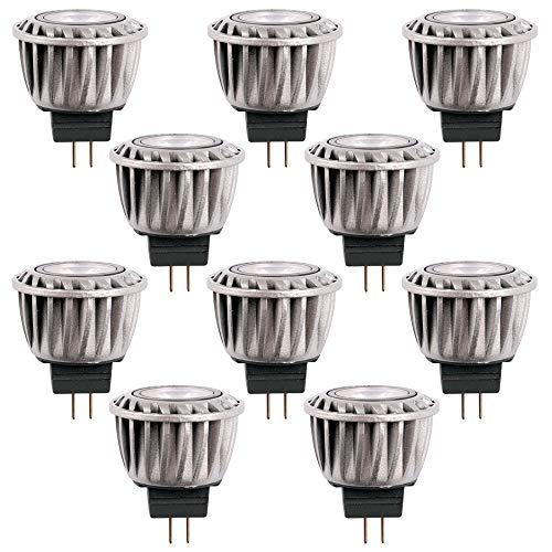 Müller-Licht - Lote de 10 bombillas reflectoras led MR11, 2 W, GU4, 12 V, 120 lm, luz blanca cálida, 3000 K, 25°
