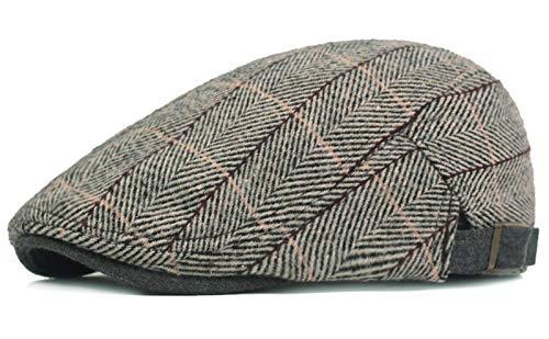 KeepSa Algodón Casquillo Plano Sombreros Newsboy Gorras - Stile Vintage Gatsby Hat Ivy Irish Cap...