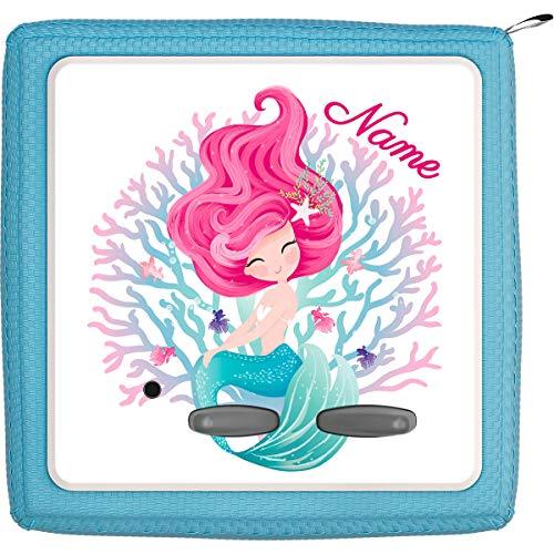 Coverlounge® Schutzfolie passend für die Toniebox mit Namen personalisiert | Kleine Meerjungfrau