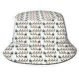 Sombrero unisex para pescador para adultos, sombrero de trineo de Papá Noel, gorra de sol, protección máxima para UVA, perfecto para pesca, jardinería, senderismo, camping, color negro, talla única