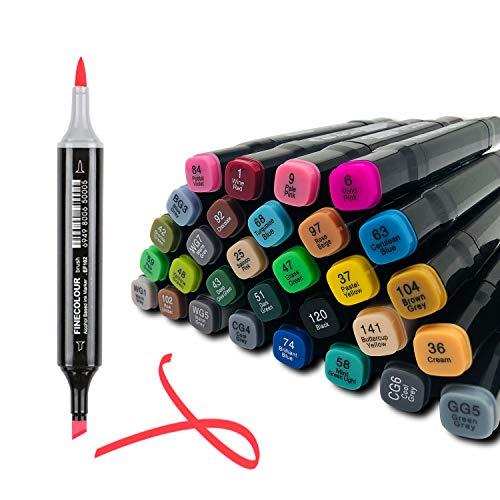 30 Farbige Graffiti Stift,Farbige Marker Set Permanent Marker,Twin Tip Textmarker Marker Set Sketch Marker Stifte Set,für Studenten Manga,Malerei Coloring Hervorhebungen und Unterstreichungen