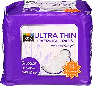365 Everyday Value, Ultra Thin Overnight Pads, 14 ct