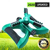 Lawn Sprinkler Garden Sprinkler -2020 Updated, Automatic 360 Rotating Adjustable Large Area, Water Sprinkler for Kids Yard Irrigation System Oscillating Sprinkler Watering Sprayer Easy Hose Connection