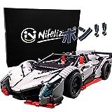 Nifeliz (二フェア)ランボルギーニ Veneno スポーツカー モデル 知育玩具 レゴ テクニックと互換性のあるブロック 男の子 大型 おもちゃ 車(1:8スケール,3427pcs)