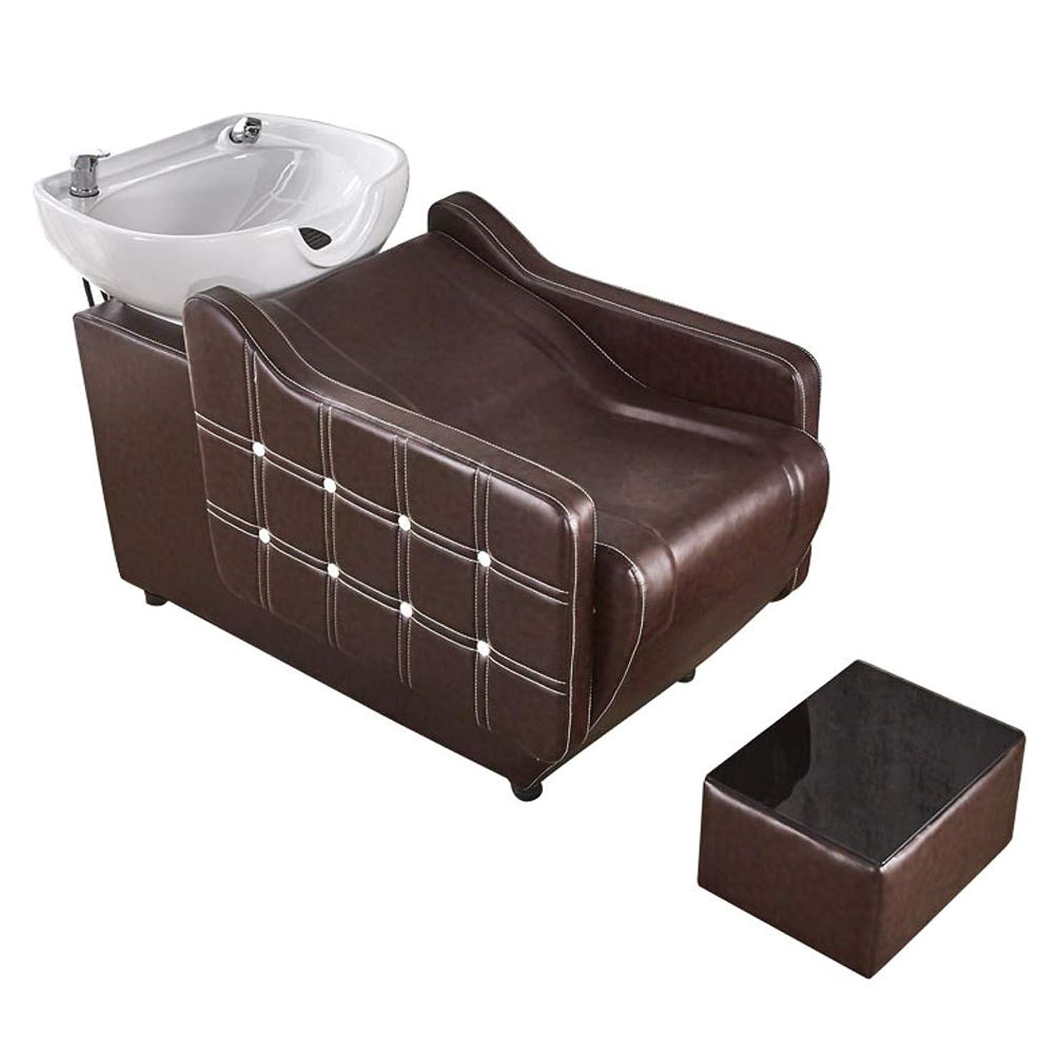 労苦コーチプラットフォームシャンプーチェア、理髪店の逆洗ユニットシャンプーボウル理髪シンクの椅子用スパ美容院