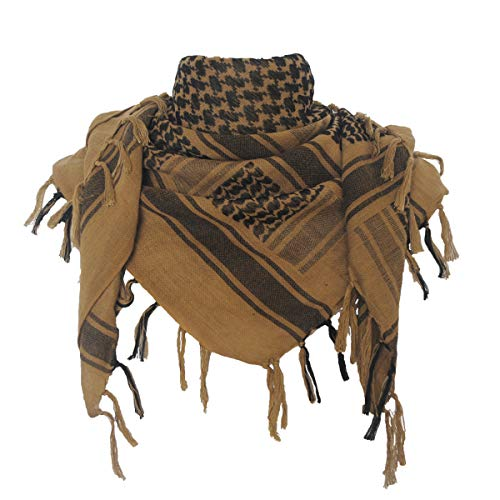 Price comparison product image Explore Land Cotton Shemagh Tactical Desert Scarf Wrap (Coyote Brown)