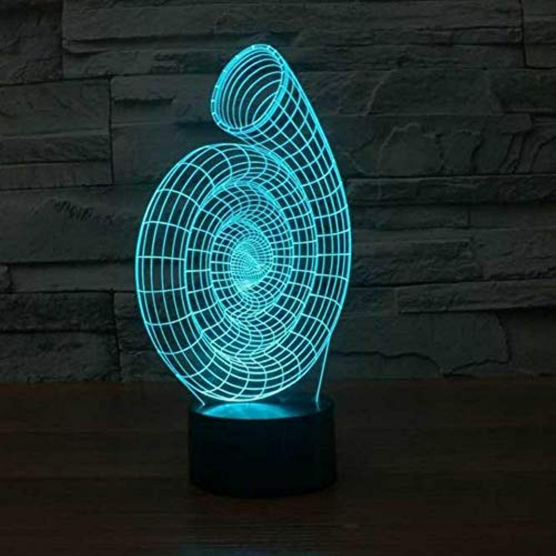 Laofan 3D USB Baby Nachttischlampe Beleuchtung Dekor Schnecke Shell Nachtlicht Leuchte 7 Farbwechsel Led Spule Form Schreibtischlampe Geschenk,Remote und berühren