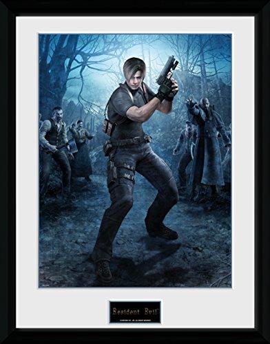 Resident Evil Framed Poster Leon Gun 45 x 34 cm Wall Scrolls