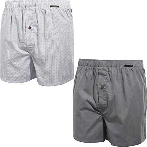 Schiesser Herren Essentials (2er Pack) Boxershorts, Braun (Taupe 310), X-Large (Herstellergröße: 007)