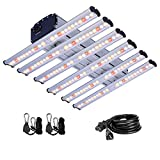CDMALL LED Grow Light 360W 4x4ft Coverage Full Spectrum Grow Lights Strip New Tech Sunlike Growing Lamp for Indoor Hydroponics Plants Veg and Flower Indoor Grow Tent Growing Kit