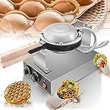 Gofrera, Kacsoo 1400w Bubble Waffle Maker 50-250°C Gofrera Eléctrica, Placa de Horneado Intercambiable y Recubrimiento antiadherente Temperatura y tiempo controlable, 3-5min de Horneado Uniforme