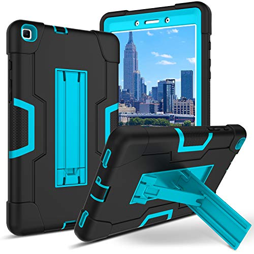 BENTOBEN Galaxy Tab A 8.0 Case 2019, Heavy Duty Rugged Full-Body Hybrid Shockproof Drop Protection Cover with Kickstand for Samsung Galaxy Tab A 8.0 2019 SM-T290/T295 Black/Blue