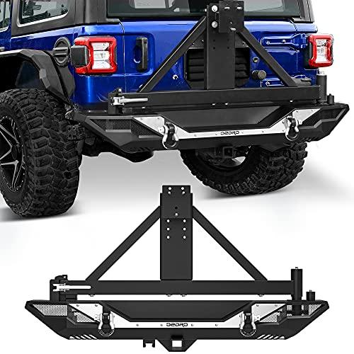 OEDRO Rear Bumper w/Tire Carrier Compatible...