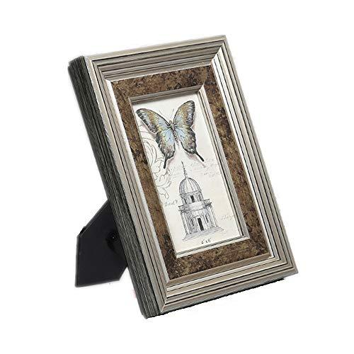 Eenvoudige Fotolijst Fotolijsten schilderijlijsten of aan de muur, is het geschikt for uw stijl Home Improvement Op Meubels te Plaatsen (Color : Champagne silver, Size : 10inch)