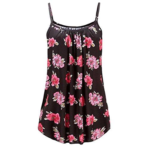 iHENGH Damen Sommer Gedruckt Ärmellose Weste Sling Bluse Tank Tops Camis Kleidung(XXXXX-Large,Mehrfarbig)