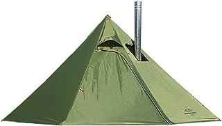 Preself テント ワンポールテント 2-3人用 換気窓あり テント内料理・焚火可 軽量 収納コンパクト キャンプテント 簡単設営 防水防風防災
