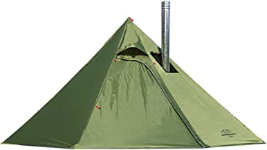 Preself 3 Person Lightweight Tipi Hot Tent with Fire Retardant Flue Pipes Window Teepee..
