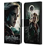 Officiel Harry Potter Hermione Granger Deathly Hallows VIII Coque en Cuir à Portefeuille Compatible...