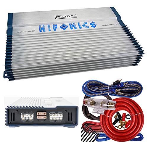Hifonics BXX1600.1D Brutus 1600W RMS Class D Mono Car Subwoofer Amplifier w/Amp Kit