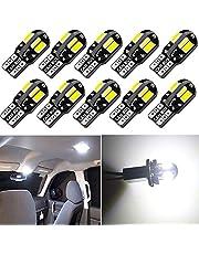 10 stuks T10 194 168 2825 W5W witte Canbus foutloze 5730 LED-lampen 12 V met vervanging voor lampen voor kentekenplaat, achterlicht, achterlicht, achterlicht, remlicht