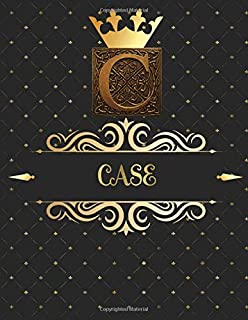 Case: Unique Personalized Gift for Him - Writing Journal / Notebook for Men with Gold Monogram Initials Names Journals to ...